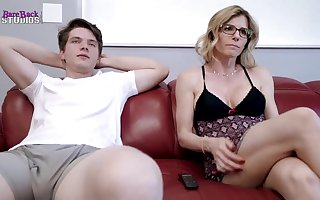 Mischievous light-haired mother, Cory Pursue is about to have red-hot bang-out with her step- son-in-law